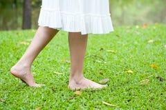 Woman legs walking Royalty Free Stock Image