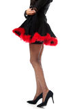 Woman legs wearing devil clothes Royalty Free Stock Images