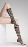 Woman legs in winter socks Stock Images