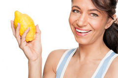 Woman with lemon Royalty Free Stock Photo