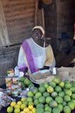 Woman with lemons Stock Photo