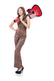 Woman in leopard clothing Stock Photos