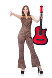 Woman in leopard clothing Royalty Free Stock Photography