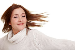 Woman letting her hair fly Stock Photos
