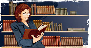 Woman In The Library Royalty Free Stock Photo