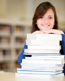 Woman at the library Royalty Free Stock Photo
