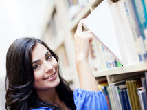 Woman at the library Stock Photography