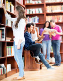Woman at the library Stock Photos