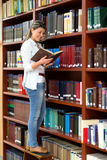 Woman at the library Royalty Free Stock Photography