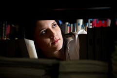 Woman in library Royalty Free Stock Image