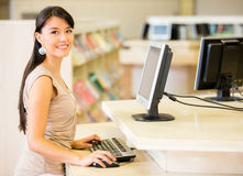 Woman at the library Stock Image