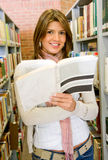 Woman in a library Royalty Free Stock Photography