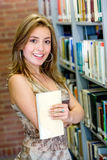 Woman in a library Royalty Free Stock Photos