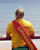 Woman lifeguard stock photos