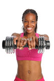 Woman Lifting Dumbbell Stock Photography