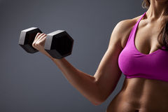 Woman Lifting Dumbbell Royalty Free Stock Image