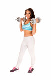 Woman lifting dumbbell's. Stock Photography