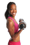 Woman Lifting Dumbbells Stock Photography