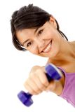 Woman lifting a free-weight Stock Image