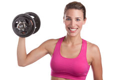 Woman Lifting Weight Royalty Free Stock Images