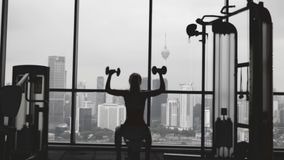 Woman Lifting Weight stock video