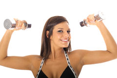 Woman Lifting Weights Stock Photography