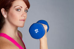 Woman Lifting Weights Stock Photos