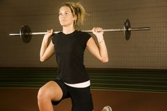 Woman Lifting Weights Royalty Free Stock Photo