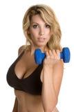 Woman Lifting Weights Royalty Free Stock Photo