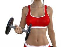 Woman Lifting Weights Stock Photos