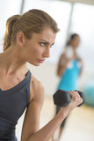 Woman Lifting Weights At Gym Royalty Free Stock Image