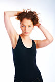 Woman on light Royalty Free Stock Photo