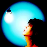 Woman light bulb Royalty Free Stock Photography