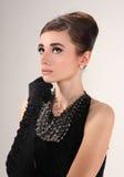 Woman like Audrey Hepburn Stock Image