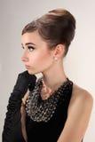Woman like Audrey Hepburn Royalty Free Stock Photos