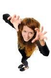 Woman Like Cat Royalty Free Stock Photos