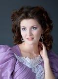 Woman lilac dress Royalty Free Stock Photos