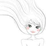 Woman Line Art Illustration Stock Images