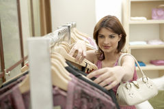 Woman Line of Clothes Stock Photos