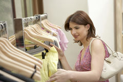 Woman Line of Clothes Royalty Free Stock Photos