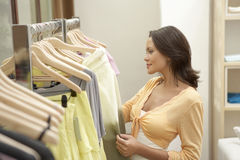 Woman Line of Clothes Royalty Free Stock Photography