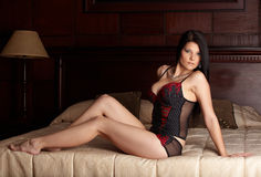 Woman in Lingerie Stock Photography