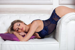 Woman in lingerie Royalty Free Stock Photography