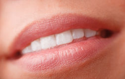 Woman lips close up Royalty Free Stock Images