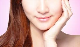 Woman lips closeup. Stock Photos