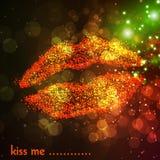 Woman lips illustration Stock Photo