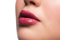 Woman lips with lipstick Stock Photo