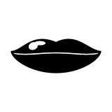 Woman lips sexy symbol pictogram. Vector illustration eps 10 Royalty Free Stock Images