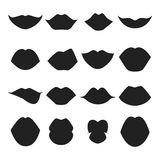 Woman lips silhouette vector illustration. Stock Photo