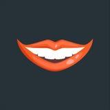 Woman lips vector illustration. Royalty Free Stock Photo
